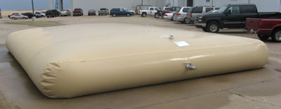 A 10,000 gallon tank used for a gray water system.  Photo by TUFF TECH