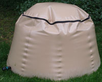 Flexible rain barrel by Tuff Tech Bags. Photo by Tuff Tech Bags