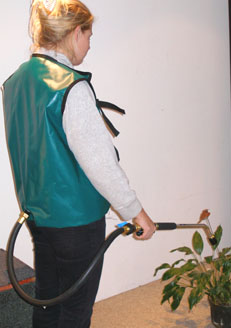 Tuff Tech 4 or 6-gallon watering vests make it easy to water your plants.  Photo by Tuff Tech