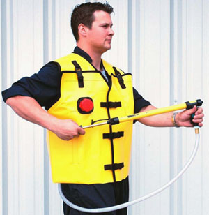 Fire resitant watering vest Photo by TUFF TECH